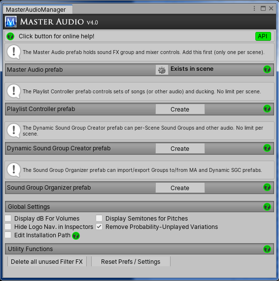 Master Audio Manager